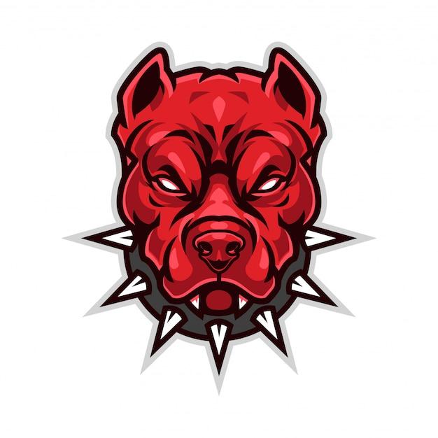 Logo mascotte pitbull