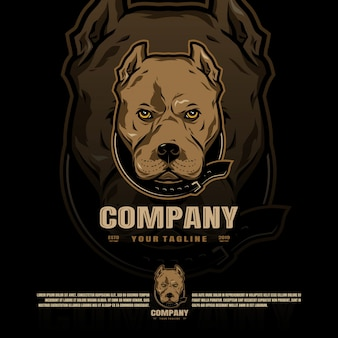 Logo de la mascotte pitbull
