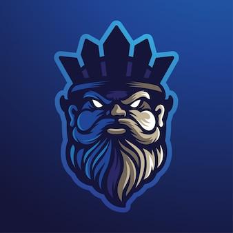 Logo de mascotte poseidon esport