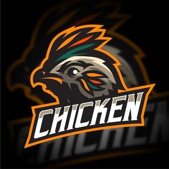 Logo mascotte poulet sauvage