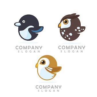 Logo mascotte de poulet