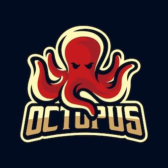 Logo de la mascotte de poulpe / kraken / calmar
