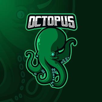 Logo de mascotte de poulpe