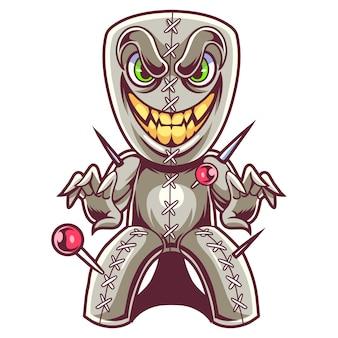 Logo mascotte poupée vaudou