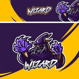Logo de mascotte premium wizard