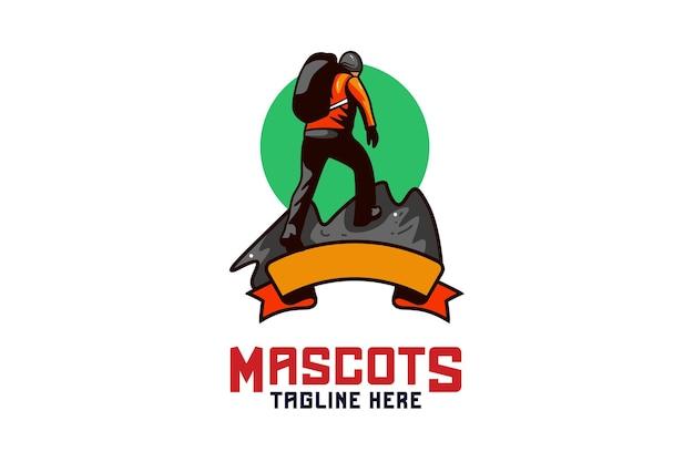 Logo de mascotte de randonnée