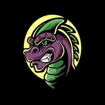 Logo de la mascotte raptor head e sport
