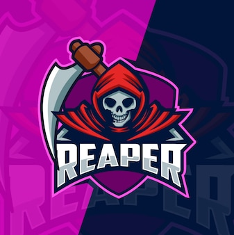 Logo mascotte reaper esport