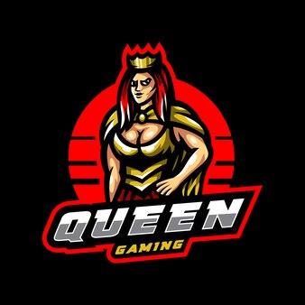 Logo mascotte reine esport gaming