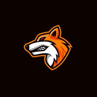 Logo mascotte renard élégant