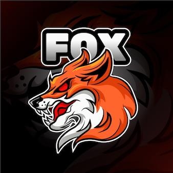 Logo de mascotte de renard sauvage