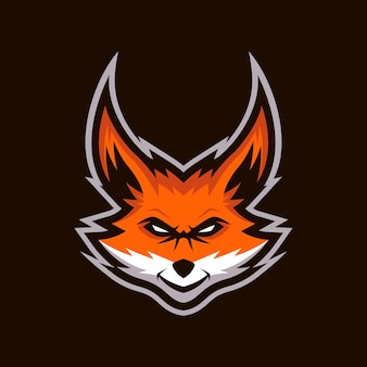 Logo de mascotte de renard