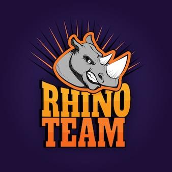 Logo mascotte rhino