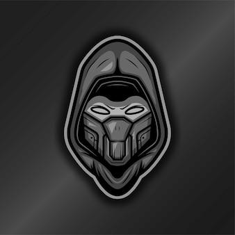 Logo de mascotte de robot