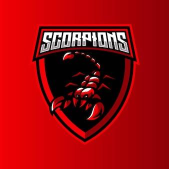Logo de la mascotte scorpion esport