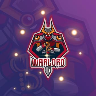 Logo de mascotte de seigneur de guerre