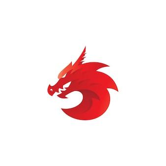 Logo de mascotte de serpent dragon