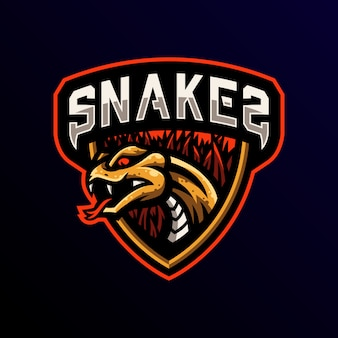 Logo de mascotte de serpent esport gaming