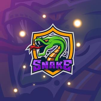 Logo de mascotte de serpent