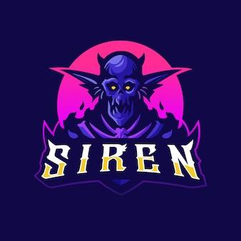 Logo mascotte sirène