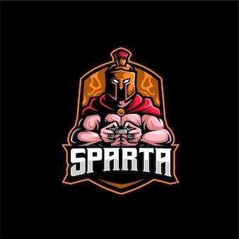 Logo mascotte sparta gamer