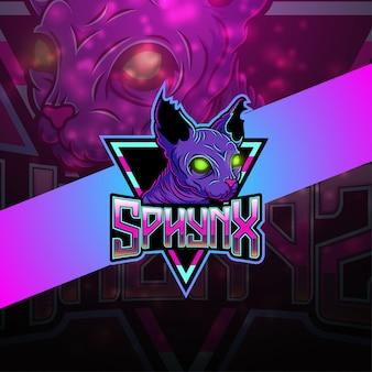 Logo mascotte sphynx esport