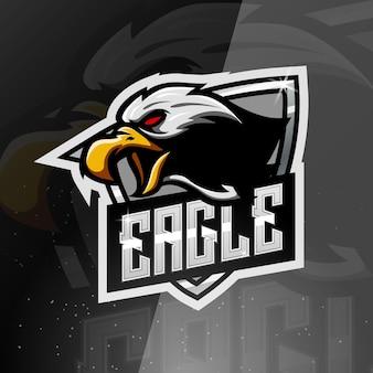 Logo de mascotte de sport d'aigle