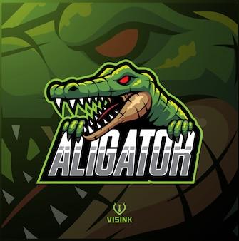 Logo mascotte sport alligator