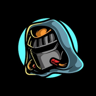 Logo mascotte sport cyber chevalier