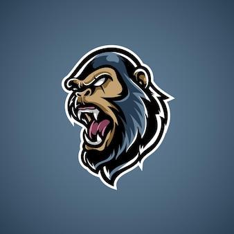 Logo De Mascotte De Sport De Kong E Vecteur Premium