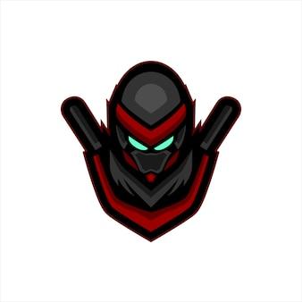 Logo de mascotte de sport ninja e