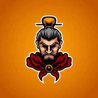 Logo de mascotte de sport de roi chinois