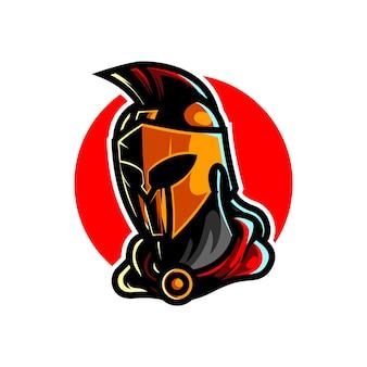 Logo de mascotte de sport de tête de chevalier