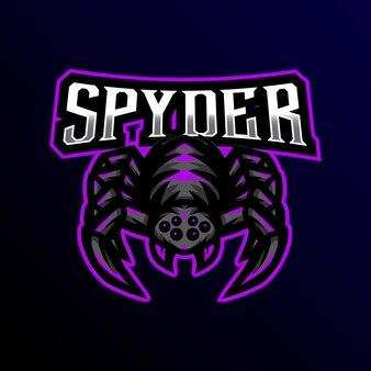 Logo de la mascotte spyder esport gaming.