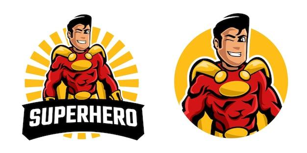 Logo de mascotte de super-héros