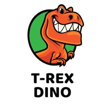 Logo de la mascotte t-rex dino