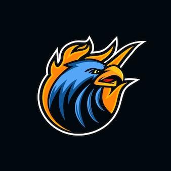 Logo de mascotte tête d'aigle créatif