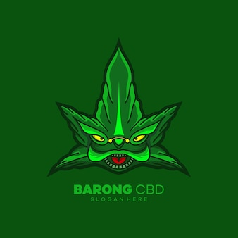 Logo de mascotte tête de barong