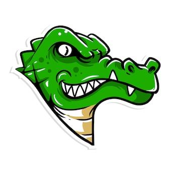 Logo de la mascotte de tête de crocodile
