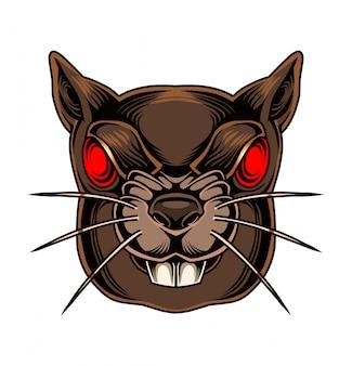 Logo mascotte tête d'écureuil