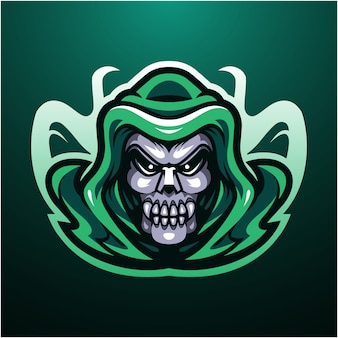 Logo de la mascotte tête de mort reaper
