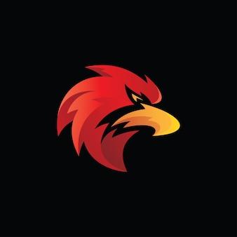 Logo de mascotte de tête d'oiseau de faucon d'aigle
