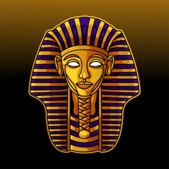 Logo mascotte tête de pharaon