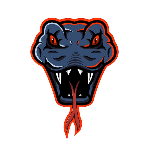 Logo mascotte tête de serpent