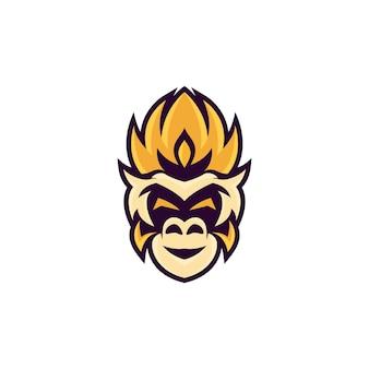 Logo mascotte tête de singe