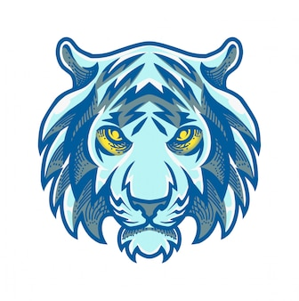 Logo mascotte tête de tigre