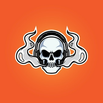 Logo de mascotte tête de vape streamers