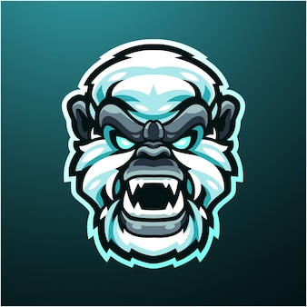 Logo mascotte tête de yéti