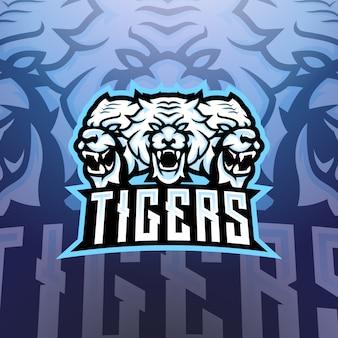 Logo de mascotte tigers esports