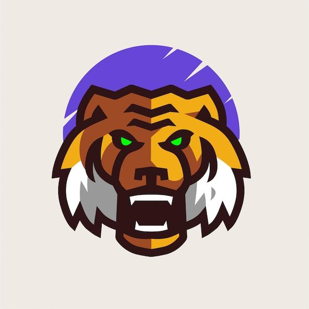 Logo de mascotte de tigre en colère